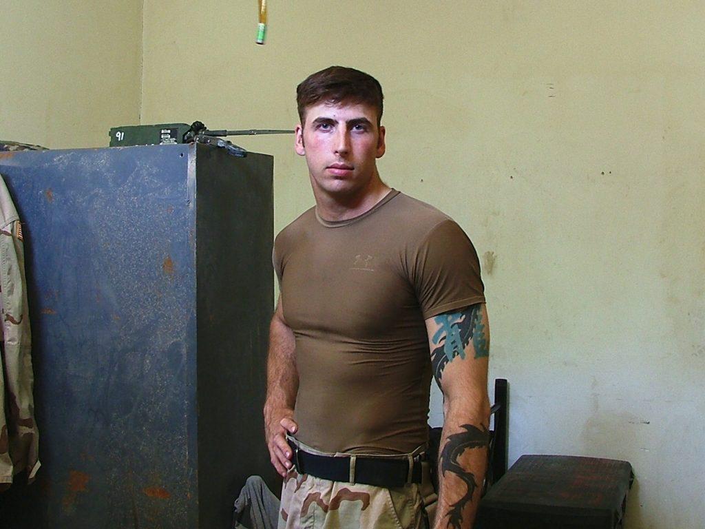 Standing in uniform