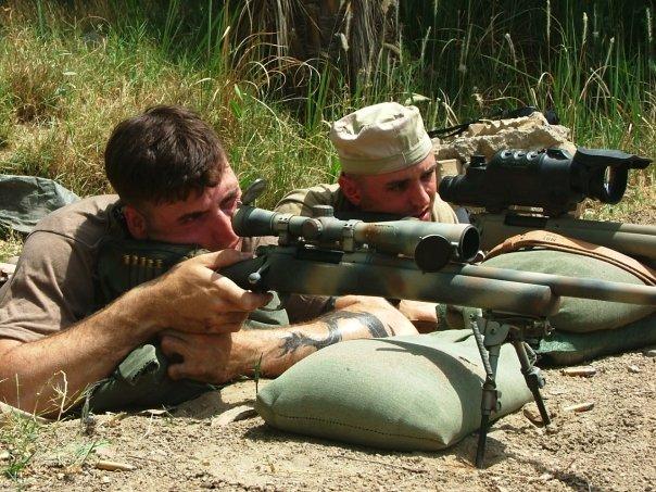 Sniper taking a shot
