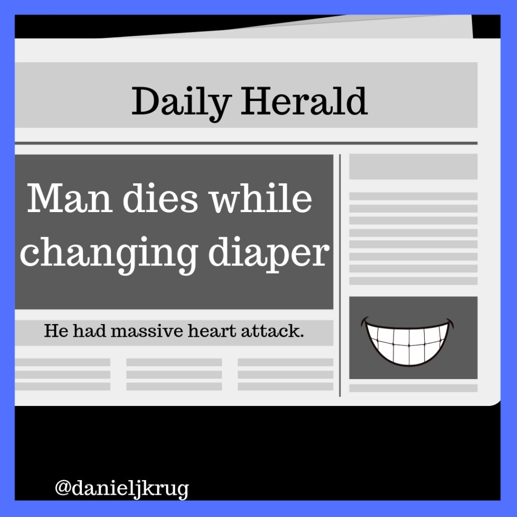 Strong headline cartoon
